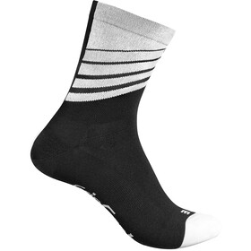 GripGrab Racing Stripes - Calcetines - blanco/negro